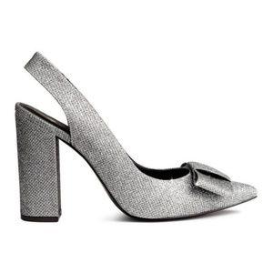 H&M Sparkle Bow Slingback Heel